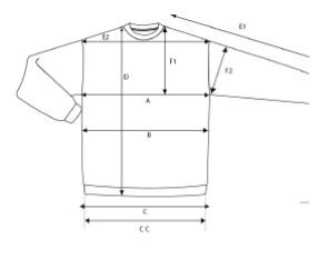 Ziphoods størrelser
